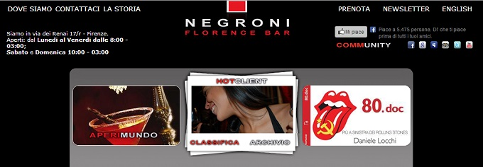 The Negroni in Florence