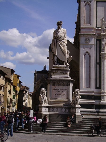 Santa Croce the Statue of Dante